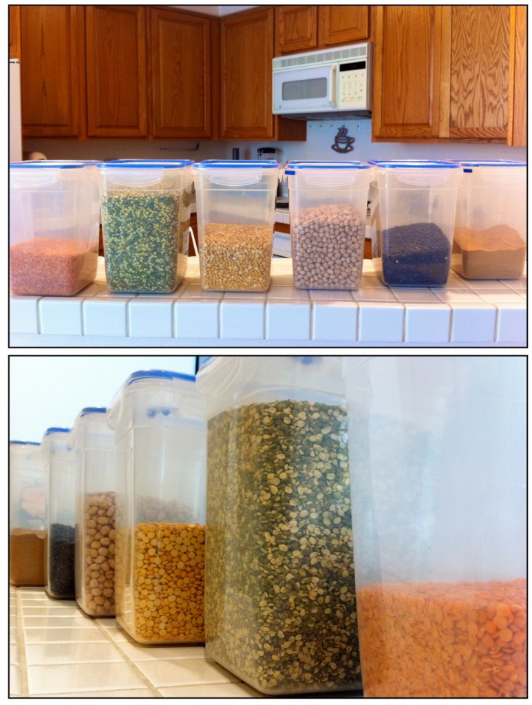 Collection of all the lentils and beans