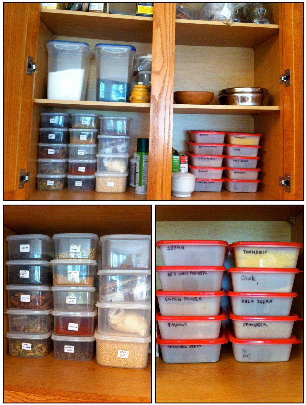 My indian pantry a curry of a life for Best material for kitchen cabinets in india