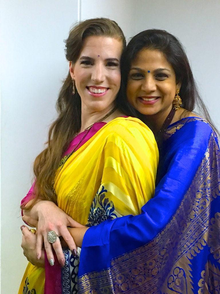 Mrs. Mahal with a beautiful friend